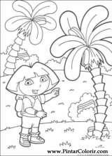 Pintar e Colorir Dora A Aventureira - Desenho 070