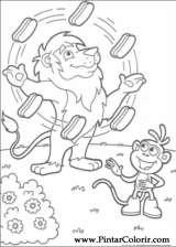 Pintar e Colorir Dora A Aventureira - Desenho 071