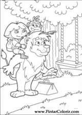 Pintar e Colorir Dora A Aventureira - Desenho 076