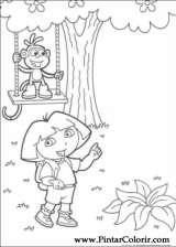 Pintar e Colorir Dora A Aventureira - Desenho 077