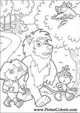 Pintar e Colorir Dora A Aventureira - Desenho 078