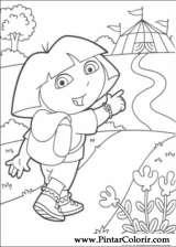 Pintar e Colorir Dora A Aventureira - Desenho 084