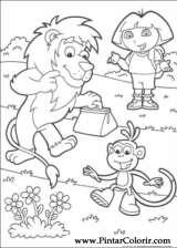 Pintar e Colorir Dora A Aventureira - Desenho 086