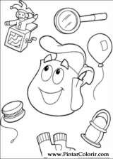 Pintar e Colorir Dora A Aventureira - Desenho 094
