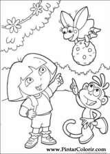 Pintar e Colorir Dora A Aventureira - Desenho 097