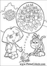 Pintar e Colorir Dora A Aventureira - Desenho 098