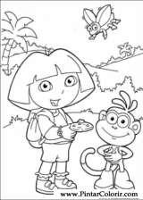 Pintar e Colorir Dora A Aventureira - Desenho 099
