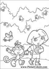 Pintar e Colorir Dora A Aventureira - Desenho 104