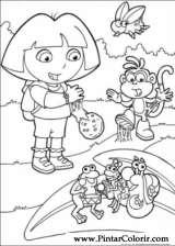 Pintar e Colorir Dora A Aventureira - Desenho 105