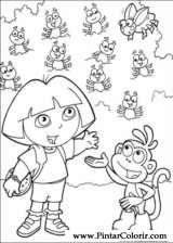 Pintar e Colorir Dora A Aventureira - Desenho 108