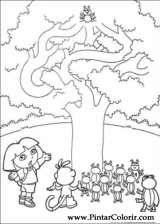 Pintar e Colorir Dora A Aventureira - Desenho 109