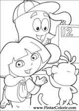 Pintar e Colorir Dora A Aventureira - Desenho 113