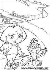 Pintar e Colorir Dora A Aventureira - Desenho 117
