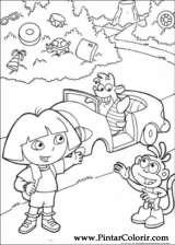 Pintar e Colorir Dora A Aventureira - Desenho 120