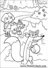 Pintar e Colorir Dora A Aventureira - Desenho 121