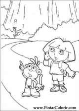 Pintar e Colorir Dora A Aventureira - Desenho 122