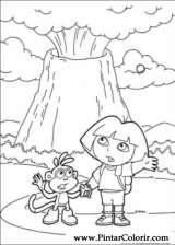 Pintar e Colorir Dora A Aventureira - Desenho 123
