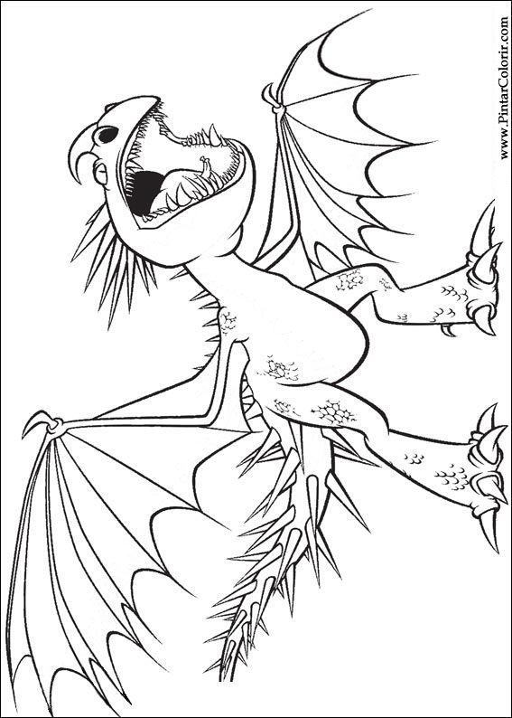 Dibujos para pintar y Color Dragon - Diseño de impresión 002