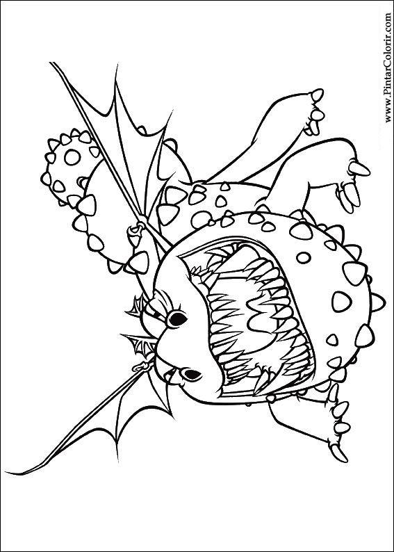 Desenhos Para Pintar E Colorir Dragao Imprimir Desenho 005