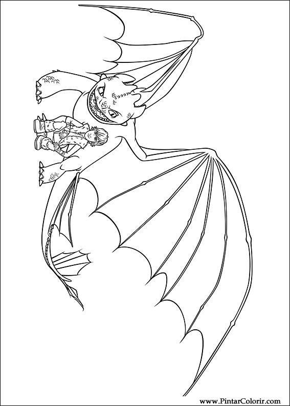 Desenhos Para Pintar E Colorir Dragao Imprimir Desenho 015
