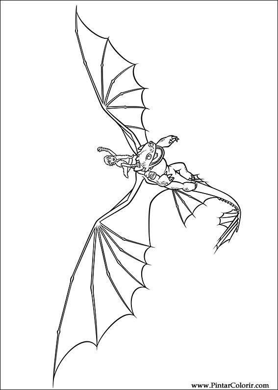Desenhos Para Pintar E Colorir Dragao Imprimir Desenho 016