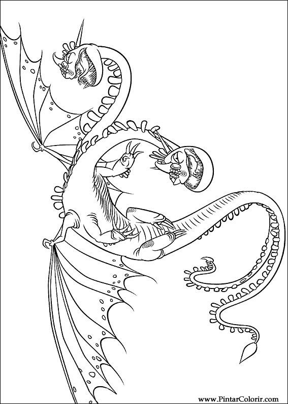 çizimler Boya Ve Renk Ejderha Için Baskı Tasarım 018
