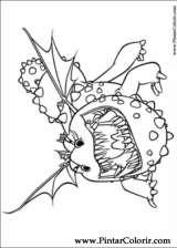 Pintar e Colorir Dragao - Desenho 005