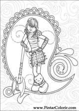 Pintar e Colorir Dragao - Desenho 012