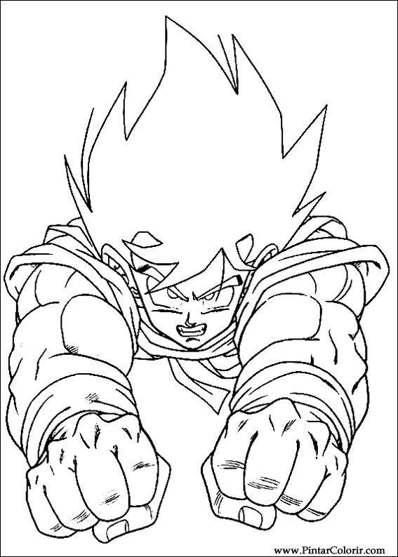 Desenhos Para Pintar E Colorir Dragon Ball Z Imprimir Desenho 008