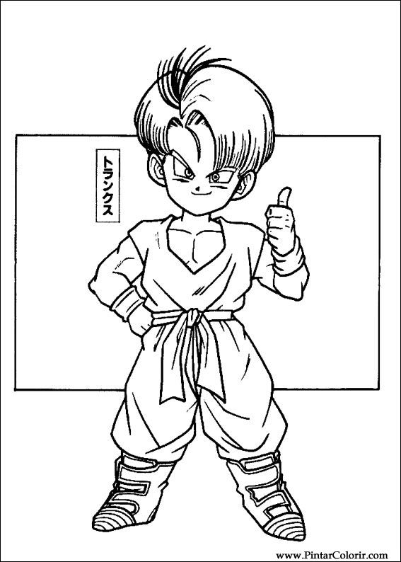 drawings to paint colour dragon ball z print design 010