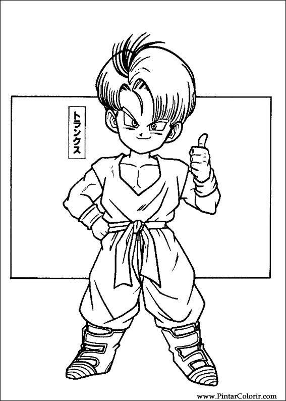 Zeichnungen Zu Malen Und Farbe Dragon Ball Z Print Design 010