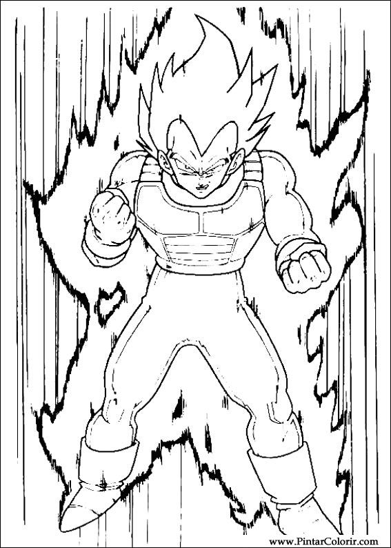 drawings to paint colour dragon ball z print design 011