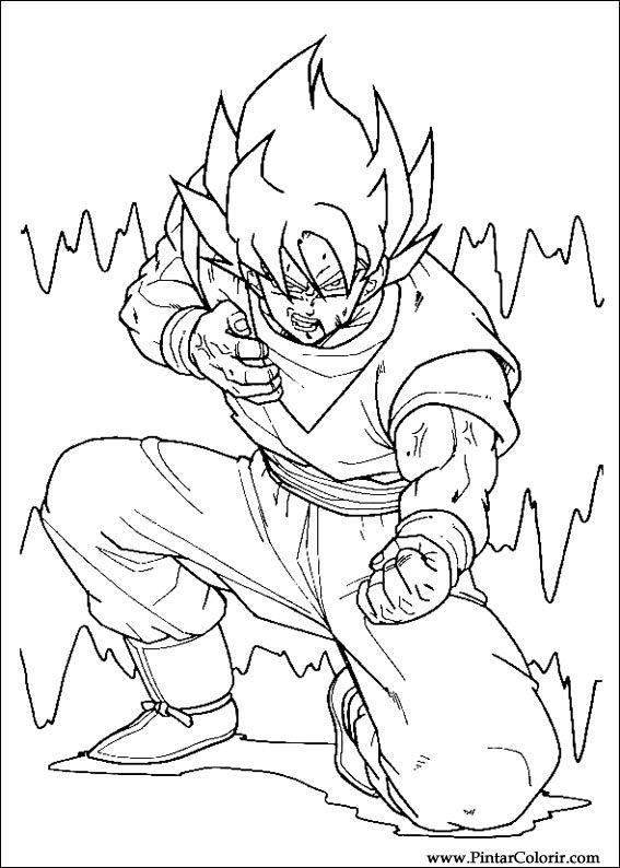 Desenhos Para Pintar E Colorir Dragon Ball Z Imprimir Desenho 017