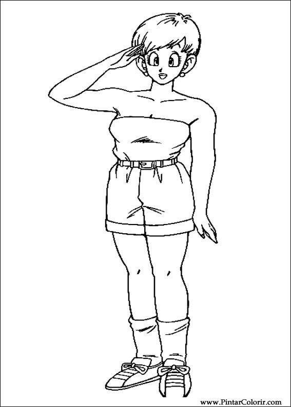 Zeichnungen Zu Malen Und Farbe Dragon Ball Z Print Design 021