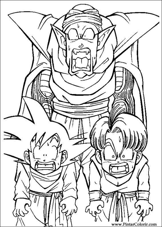 Zeichnungen Zu Malen Und Farbe Dragon Ball Z Print Design 026