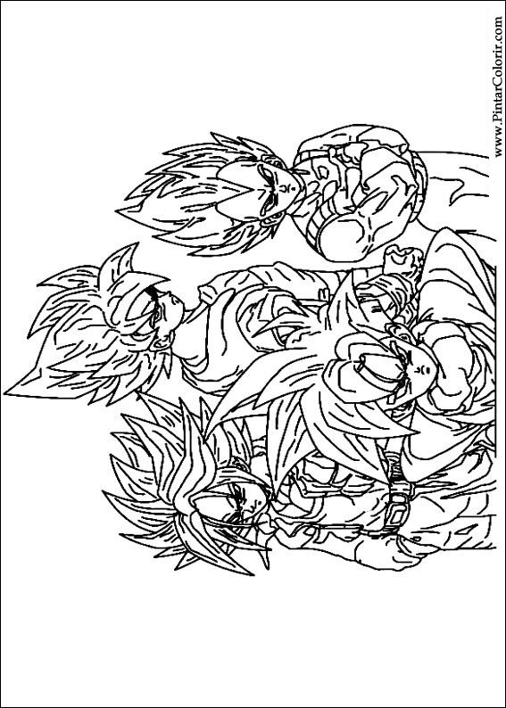 Dragon Ball Z 247 Cartoons Printable Coloring Pages