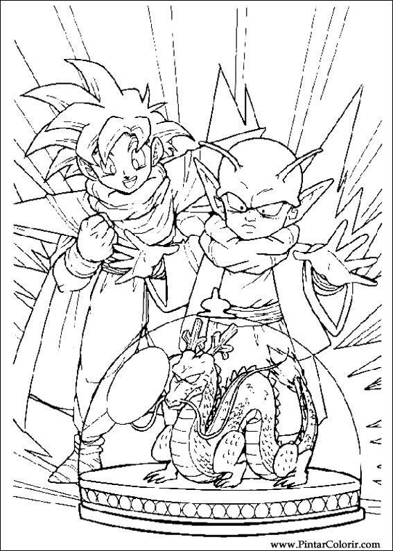 Desenhos Para Pintar E Colorir Dragon Ball Z Imprimir Desenho 029