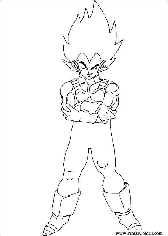 Desenhos Para Pintar E Colorir Dragon Ball Z Imprimir Desenho 033