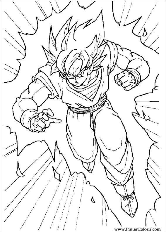 Dibujos Para Pintar Y Color Dragon Ball Z Diseno De Impresion 037