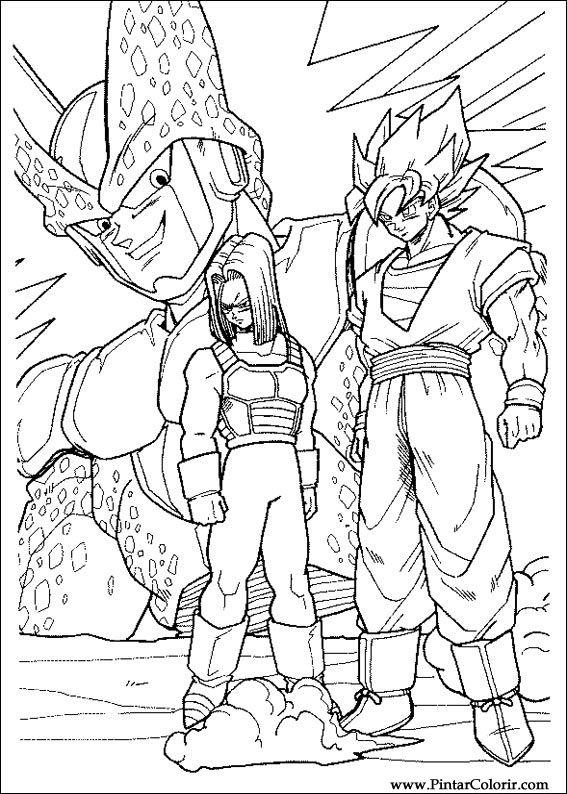 Zeichnungen Zu Malen Und Farbe Dragon Ball Z Print Design 040