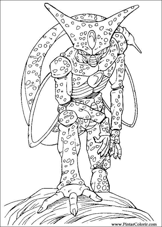 Dibujos para pintar y Color Dragon Ball Z - Diseño de impresión 041