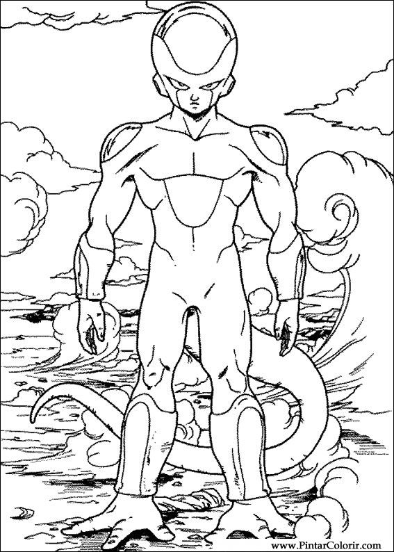 Drawings To Paint & Colour Dragon Ball Z - Print Design 042