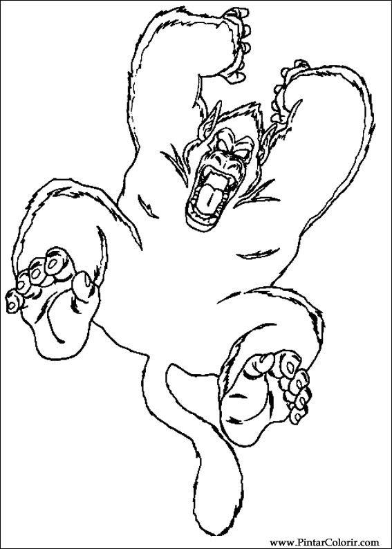Dibujos para pintar y Color Dragon Ball Z - Diseño de impresión 044