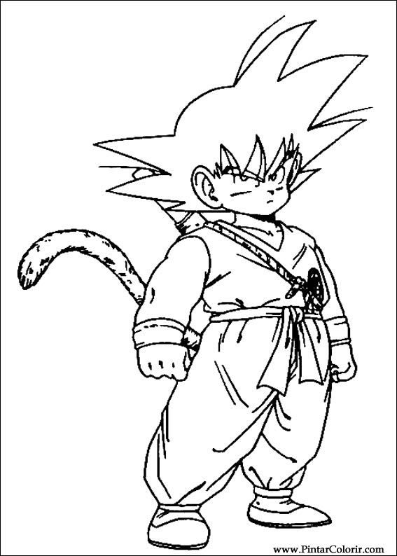 drawings to paint colour dragon ball z print design 045