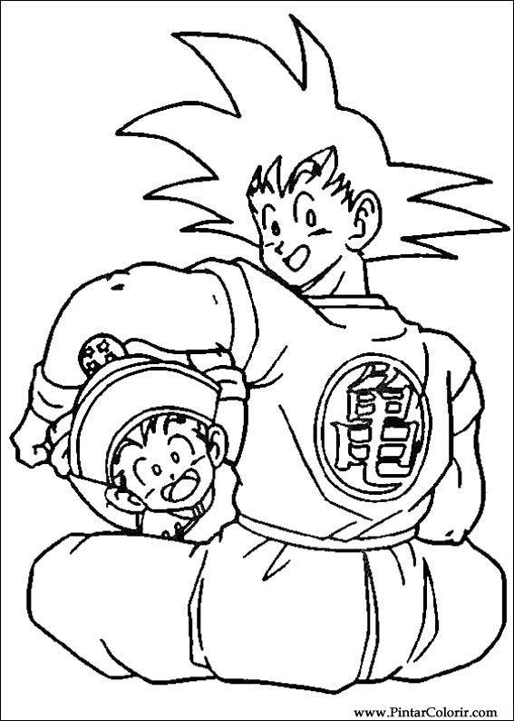 Disegni Per Dipingere Colour Dragon Ball Z Stampare