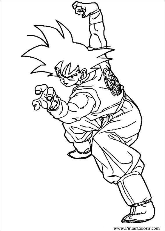 Desenhos Para Pintar E Colorir Dragon Ball Z Imprimir Desenho 065