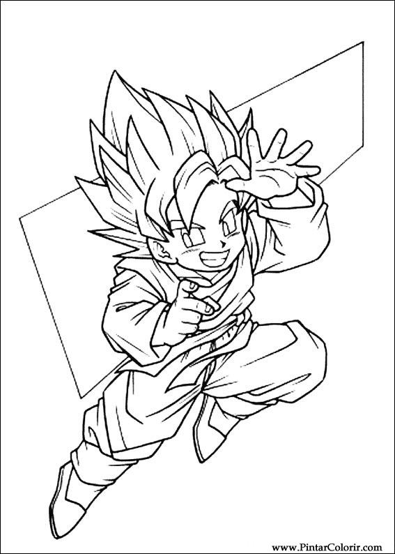 Drawings To Paint Colour Dragon Ball Z Print Design 069