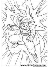 Pintar e Colorir Dragon Ball Z - Desenho 006