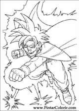 Pintar e Colorir Dragon Ball Z - Desenho 007