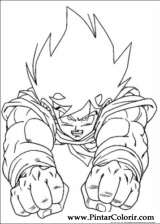 Pintar e Colorir Dragon Ball Z - Desenho 008